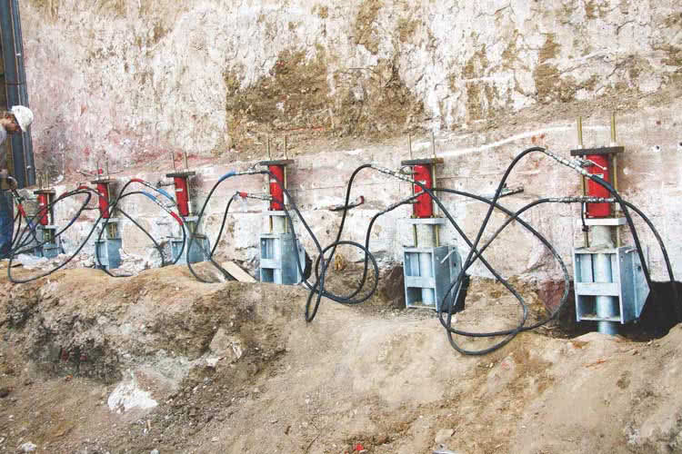 Installing the foundation push piers is a complex task, which requires professional assistance.