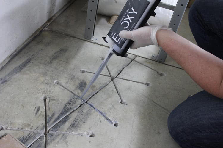 Foundation crack injection with epoxies will securely seal the cracks and protect your basement from the water.