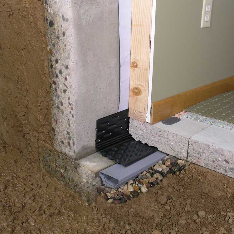 Interior French drain installation is simpler and does not require invasive actions. It takes less time and it is also safer.